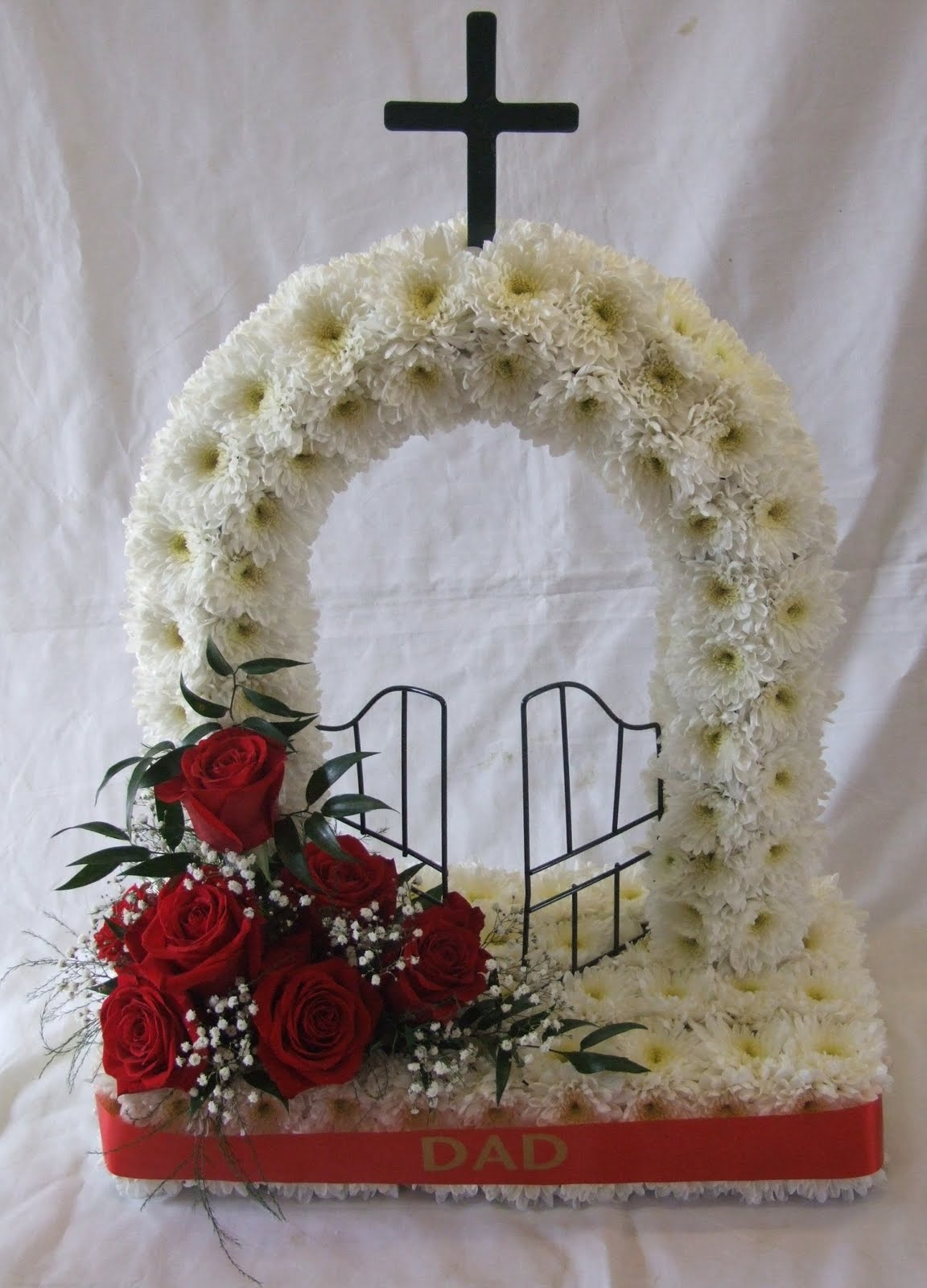 Rjs florist funeral tributes gates of heaven this design is getting really popular again izmirmasajfo Choice Image