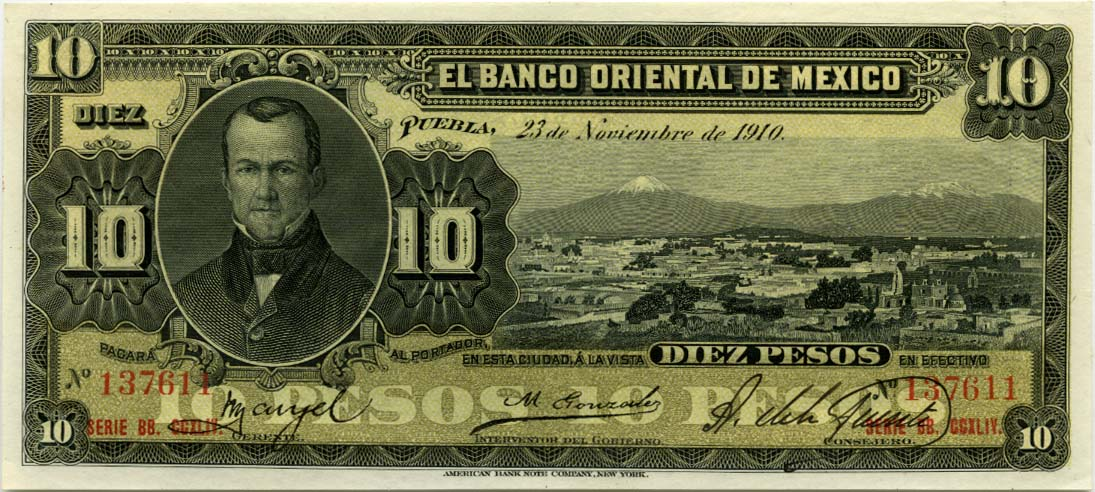 Banca Oriental De Pr:Mexico Money Mexican Peso