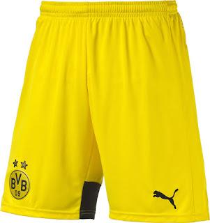 gambar desain terbaru musim depan kostum borrusia dortmund Celana Borrusia Dortmund home Liga eropa musim 2015/2016 di enksoa sport toko jersey terpercaya