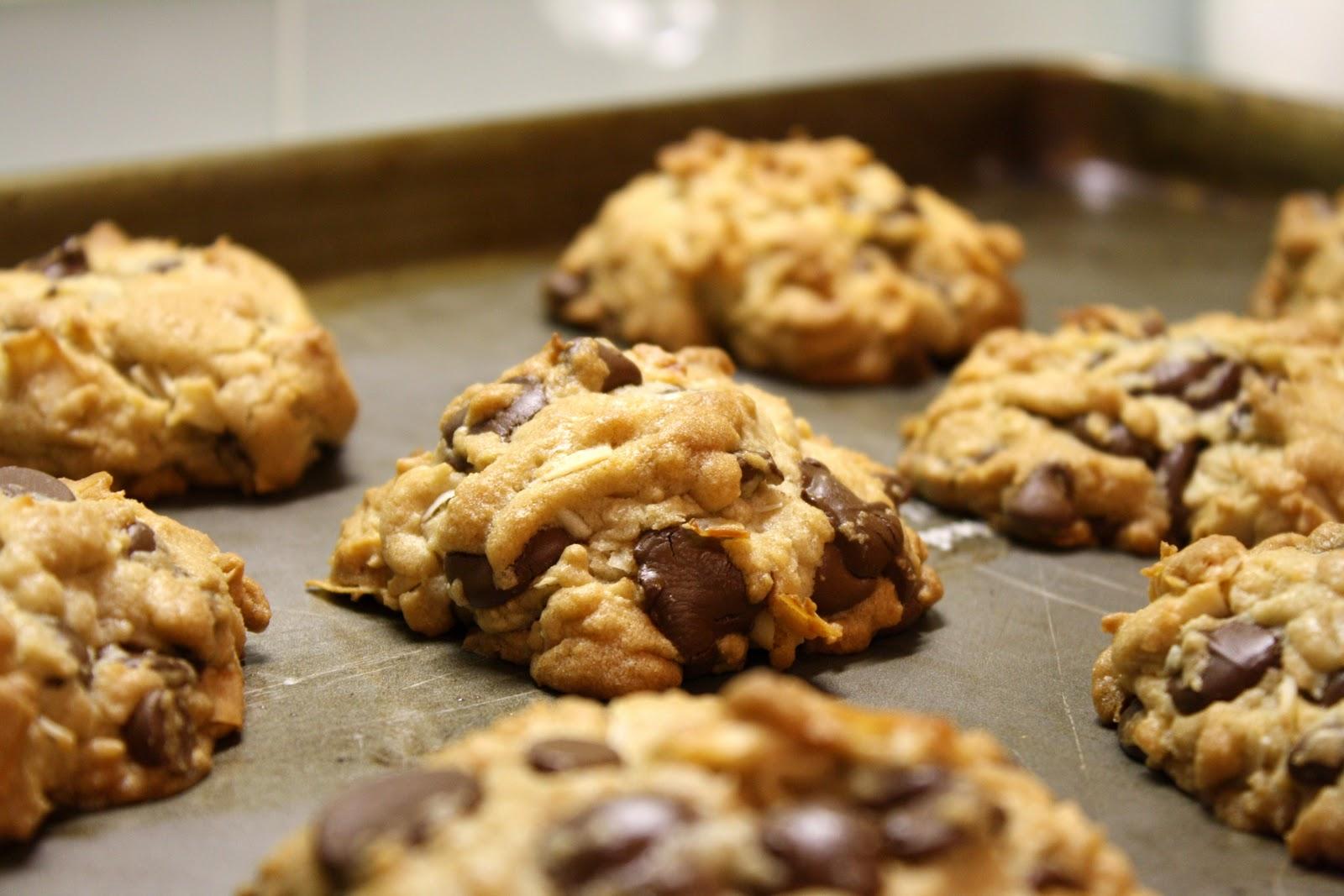 Coconut Chocolate Chip Cookies - Food Blogger Cookie Swap