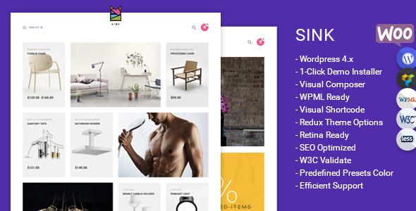 Sink Minimal WooCommerce WordPress Theme