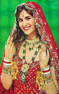 katrina kaif in bridal look in marriage