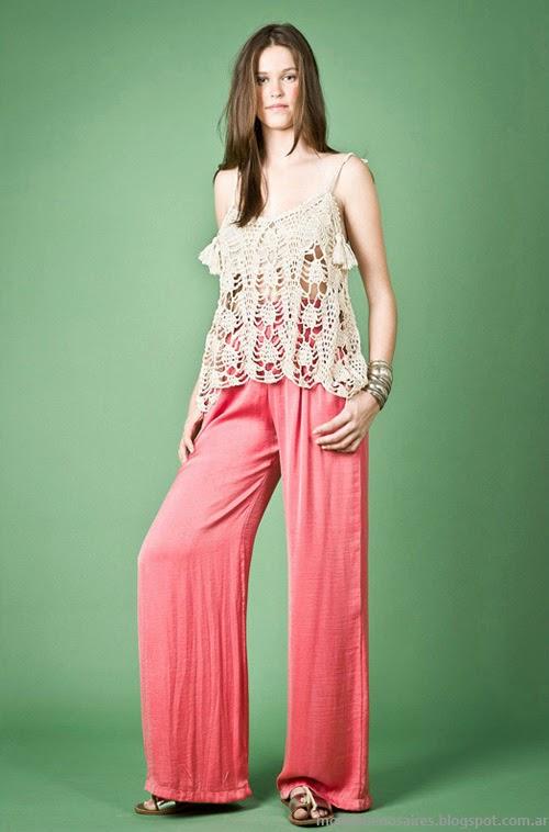 Moda Tejidos verano 2014. Agostina Bianchi moda tejidos verano 2014 colección.