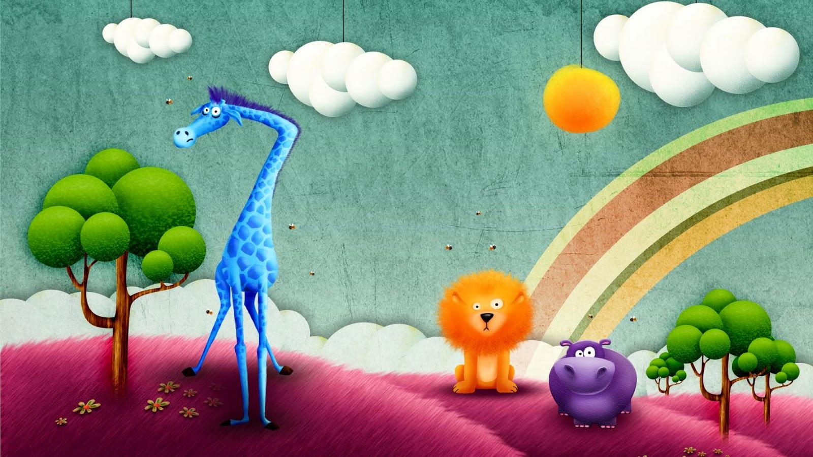 Abstract Cartoon Forest hd wallpaper