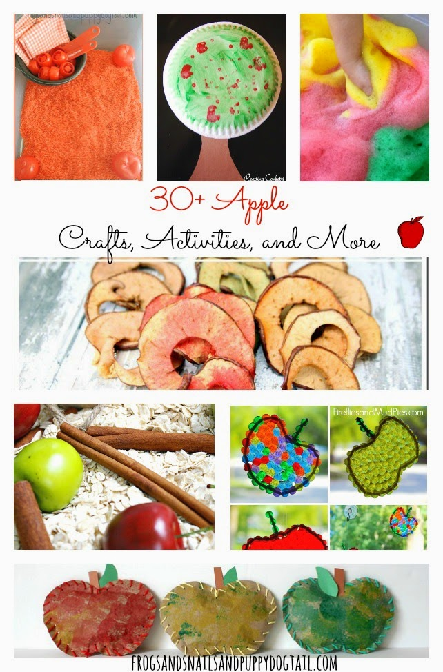 30+ Apple Crafts, Activities, and More The Kids Love