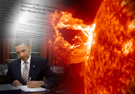 OBAMA ORDERED PLANS FOR POSSIBLE SOLAR ERUPTION HAZARDOUS