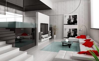 Desain Ruang Tamu Masa Kini Rumah Modern