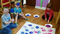Fly swatter painting daycare
