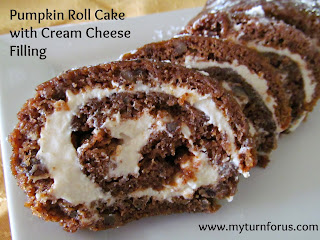 Pumpkin Roll Cake With Cream Cheese Filling  from My Turn for us