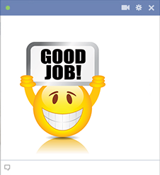 Good job emoticon for Facebook
