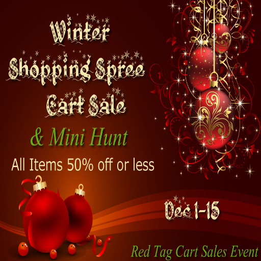 Winter Shopping Spree Cart Sale & Mini Hunt