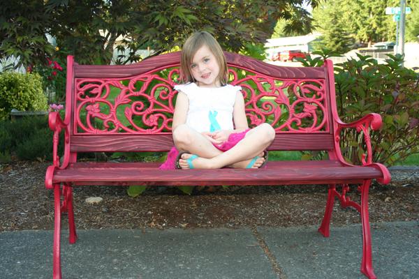Superior Red Garden Bench