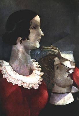 Amants en gris (Marc Chagall)