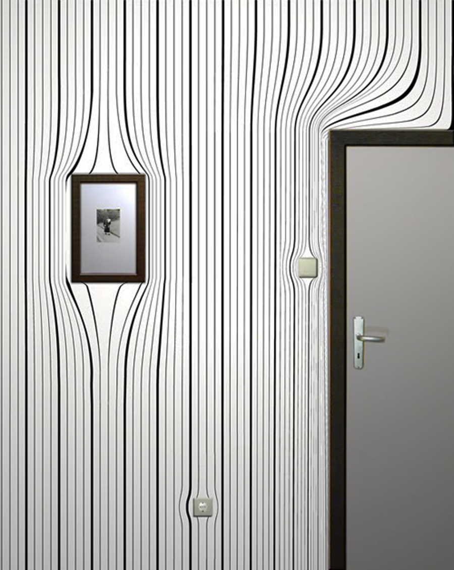 Interior design information contemporary surrealist for Modern wallpaper for walls designs