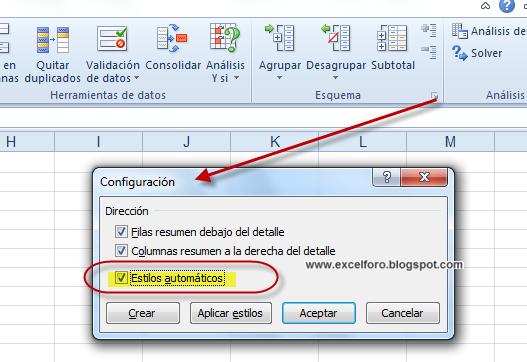 Los Estilos De Celda Y La Herramienta Subtotales En Excel