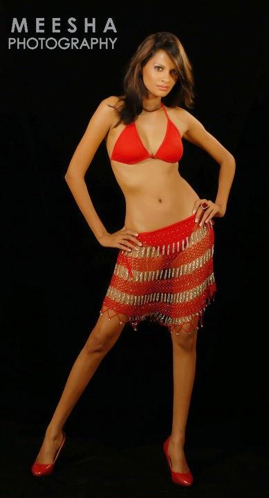 Charitha Waidyasiri red bikini