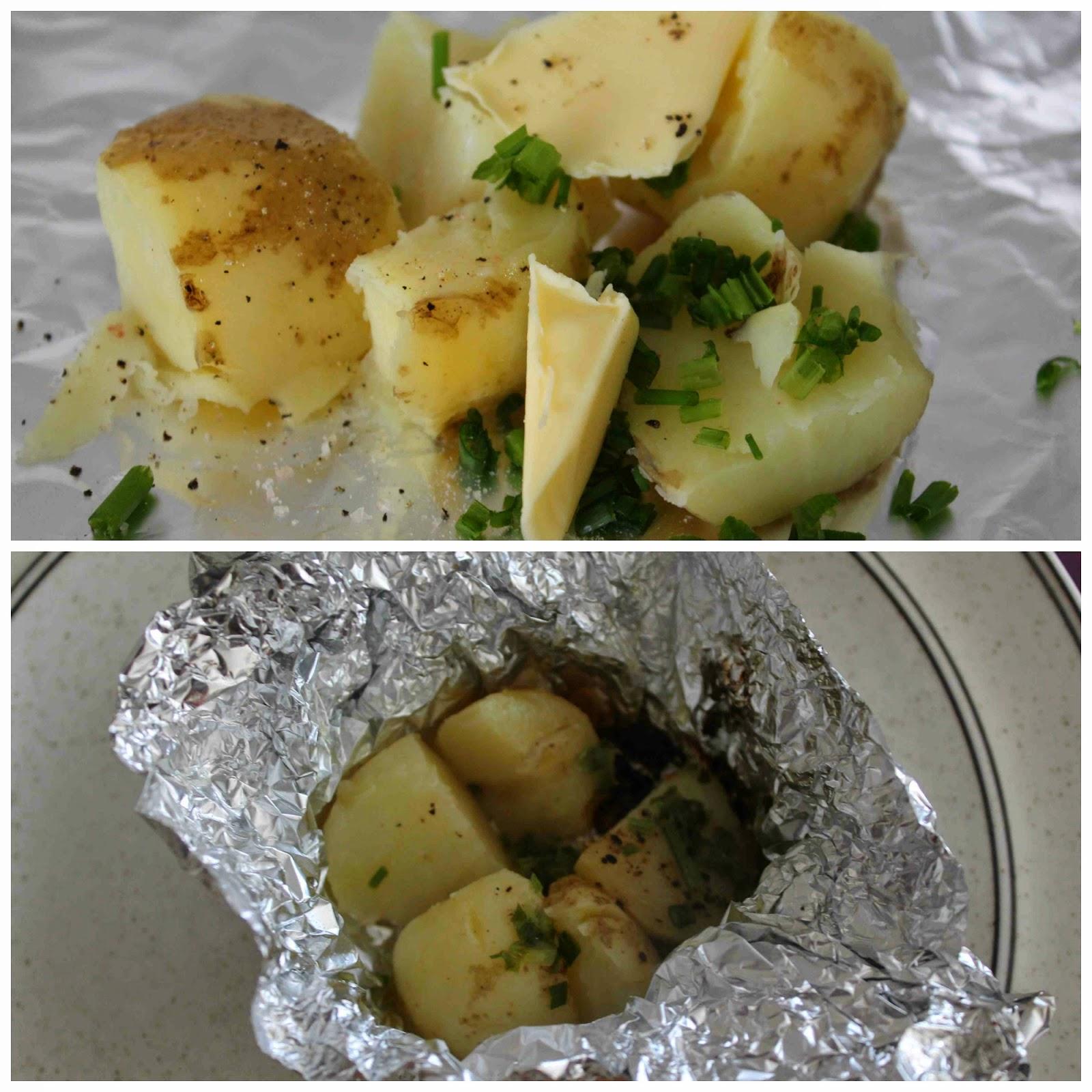 potatispaket på grillen recept
