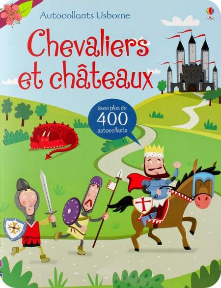 Autocollants Usborne - Chevaliers et châteaux - éditions Usborne