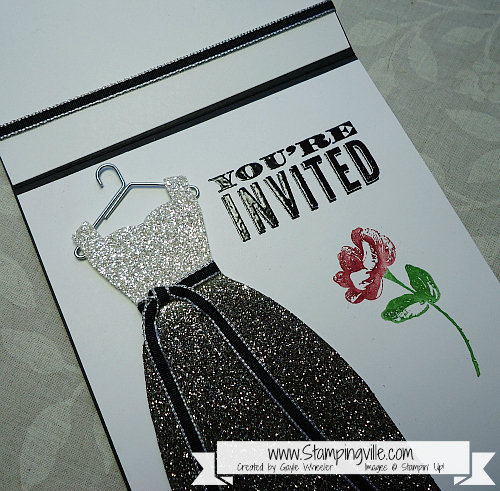 Stampin' Up! Dress Up Framelits Glimmer Paper Dress