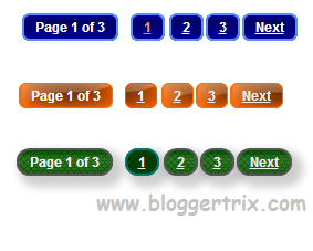 Numbered Page Navigation Widget For Blogger