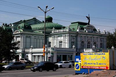 Teatro de Omsk, transiberiano 2015
