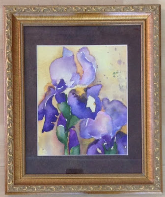 watercolour, iris, painting, Jude Quick, Canadian artist, Art Emporium, Port Stanley