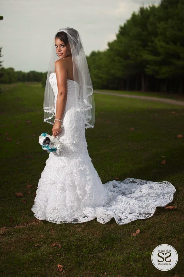 Real Wedding bridal fabric bouquet