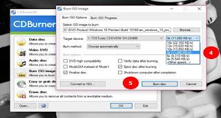 Cara mudah dan cepat Burning Dan membuat DVD Windows 10
