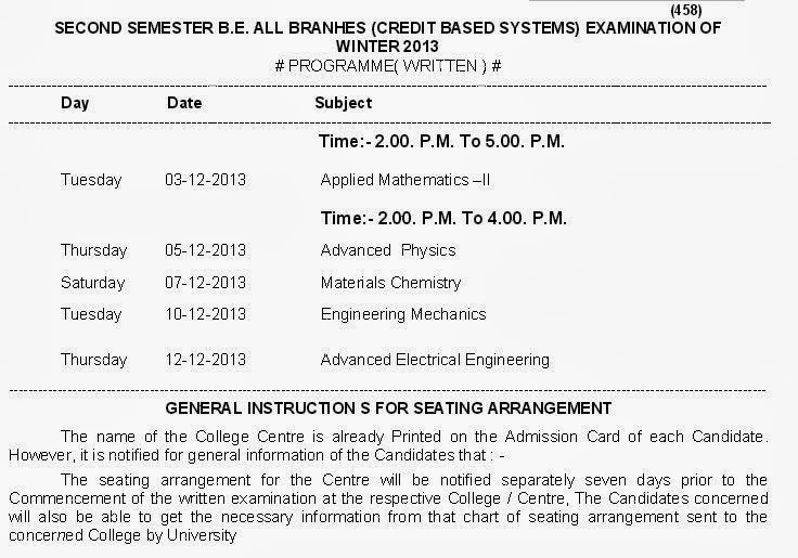 My results india rtmnu 1st sem 2nd sem engineering be for Rtmnu time table 4th sem