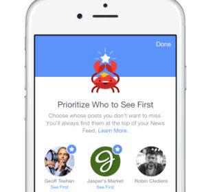 scegliere notizie da leggere su facebook