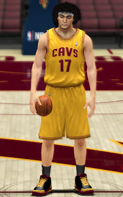 NBA 2K13 Cavs Yellow Alternate Jersey Fix Patch