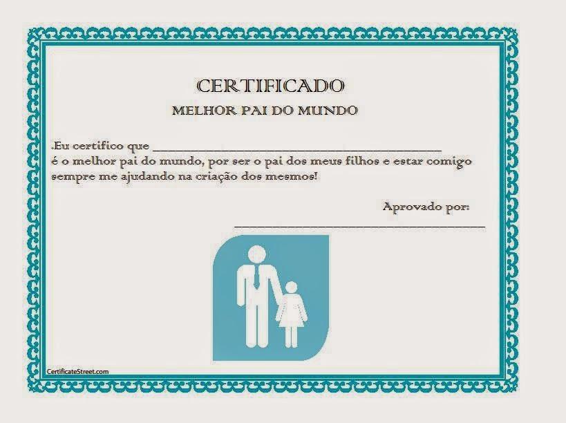 Frases De Amor Certificado De Melhor Pai Do Mundo