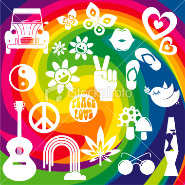 Flower Power on Istockphoto 13220120 Hippie Icons Peace Love And Flower Power Jpg