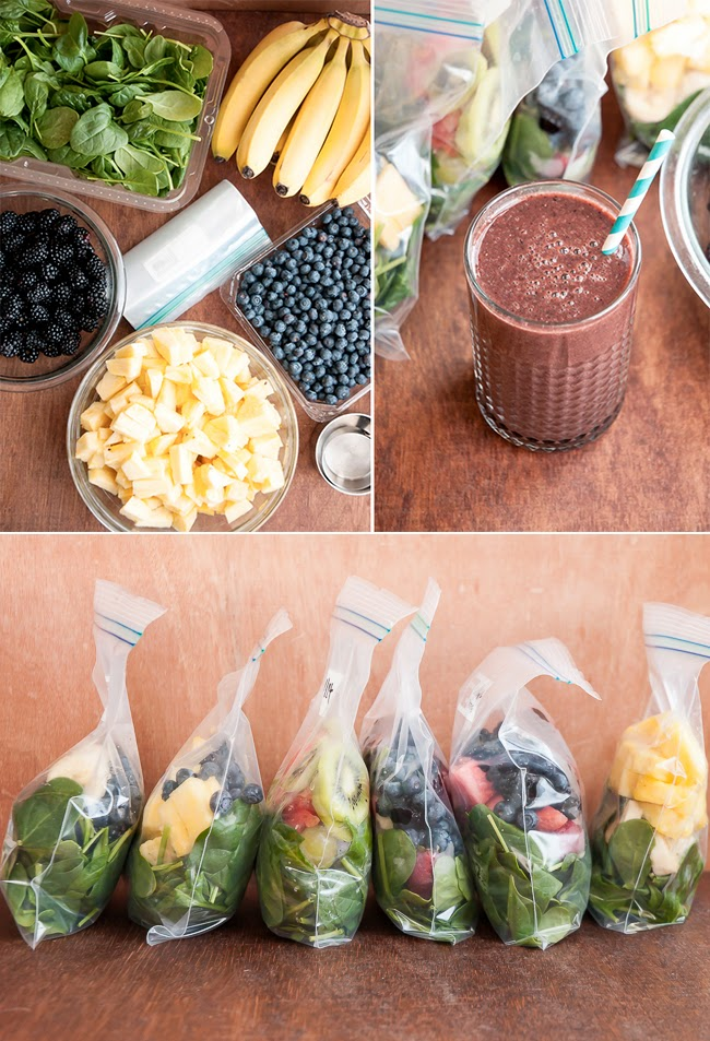 Make a Month of Green Smoothies in One Hour