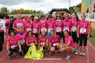 Carrera Mujeres Leon contra el cancer de mama
