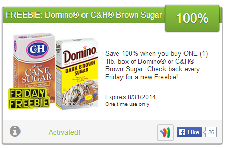 The frugal family life 2014 08 24 yay grab a free box of brown sugar this weekend this weeks saving star friday freebie offer is a 100 rebate on a domino or ch brown sugarin a 1lb box fandeluxe