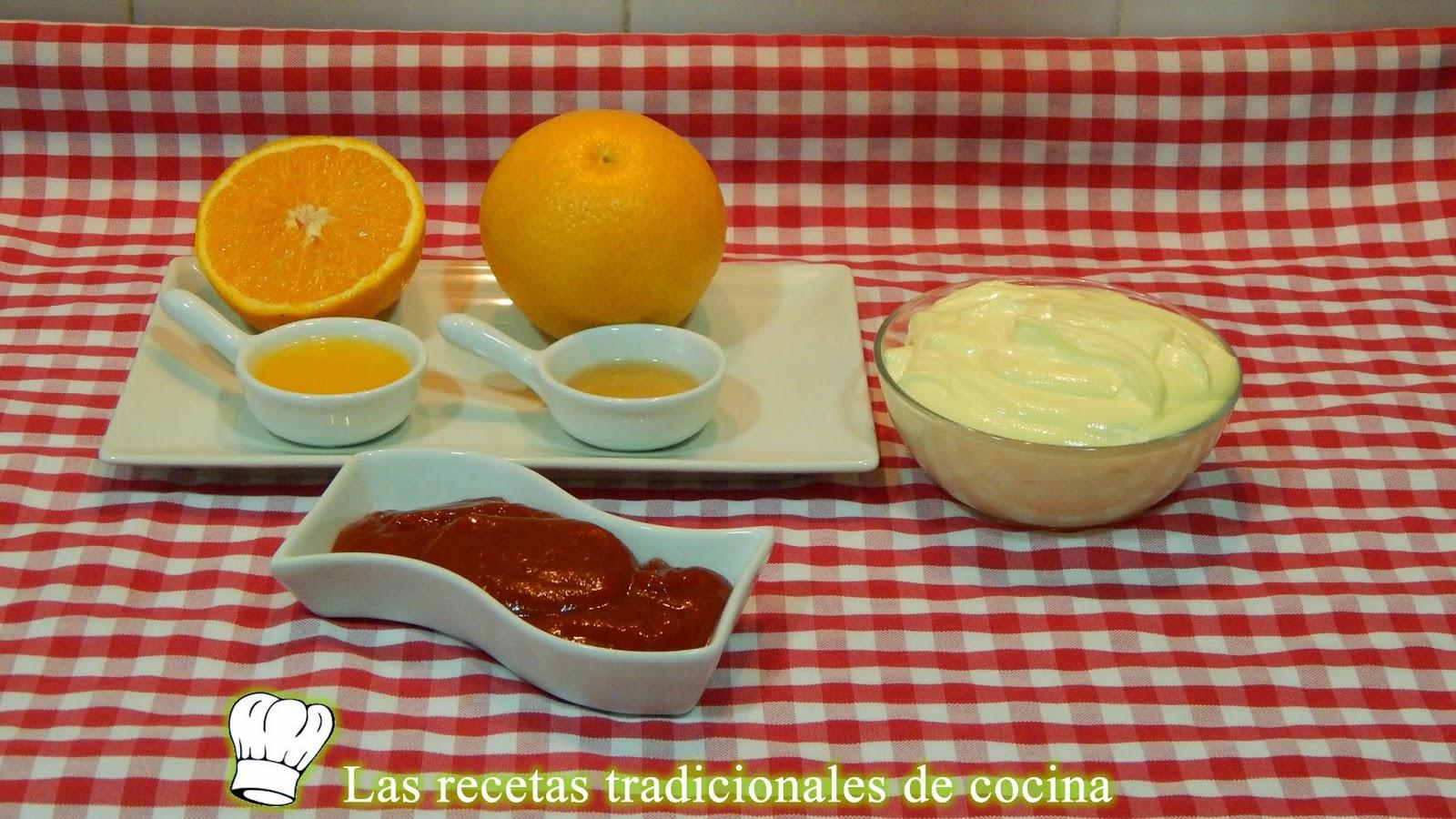 Receta de la salsa rosa o salsa de cóctel