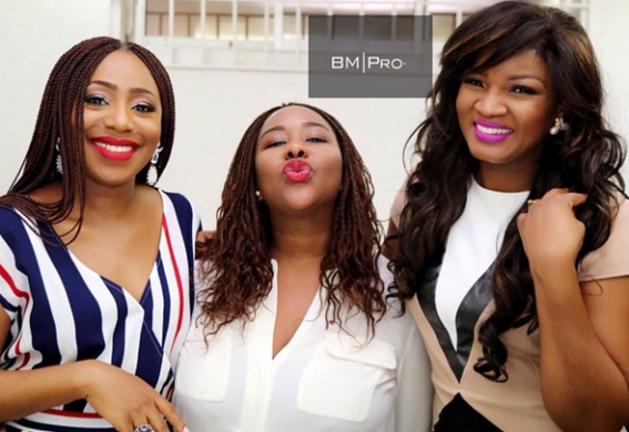 Photo: Dakore Egbuson-Akande and Omotola Jalade-Ekeinde are breathtaking beauties