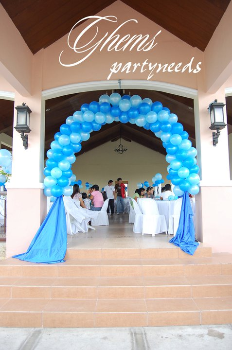 Tables & Chairs Set-up with Balloons Arrangement (Baptismal)