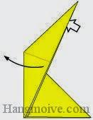 Bước 6: Từ vị trí mũi tên, mở lớp giấy ra, kéo lớp giấy về bên trái.