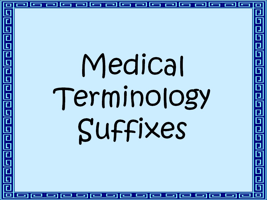 medical terminology prefixes and suffixes list pdf