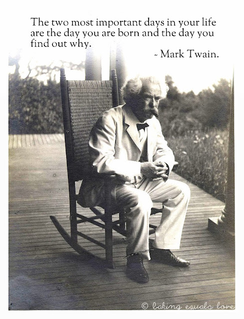 Baking love inspired mark twain foodie inspo for Chair quotes