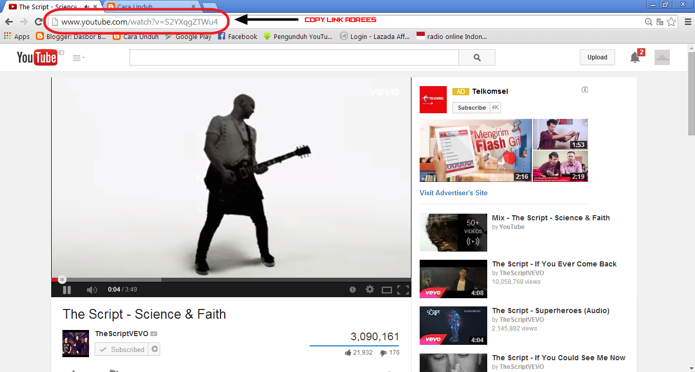 Cara Download Video di Youtube via SaveFrom.net