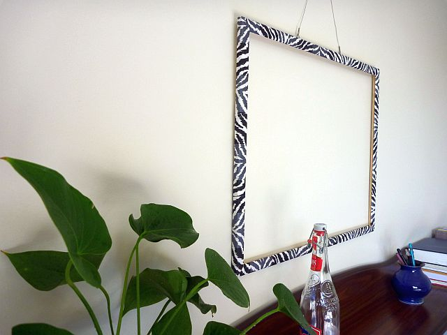 Vintage Wallpaper Frame Makeover