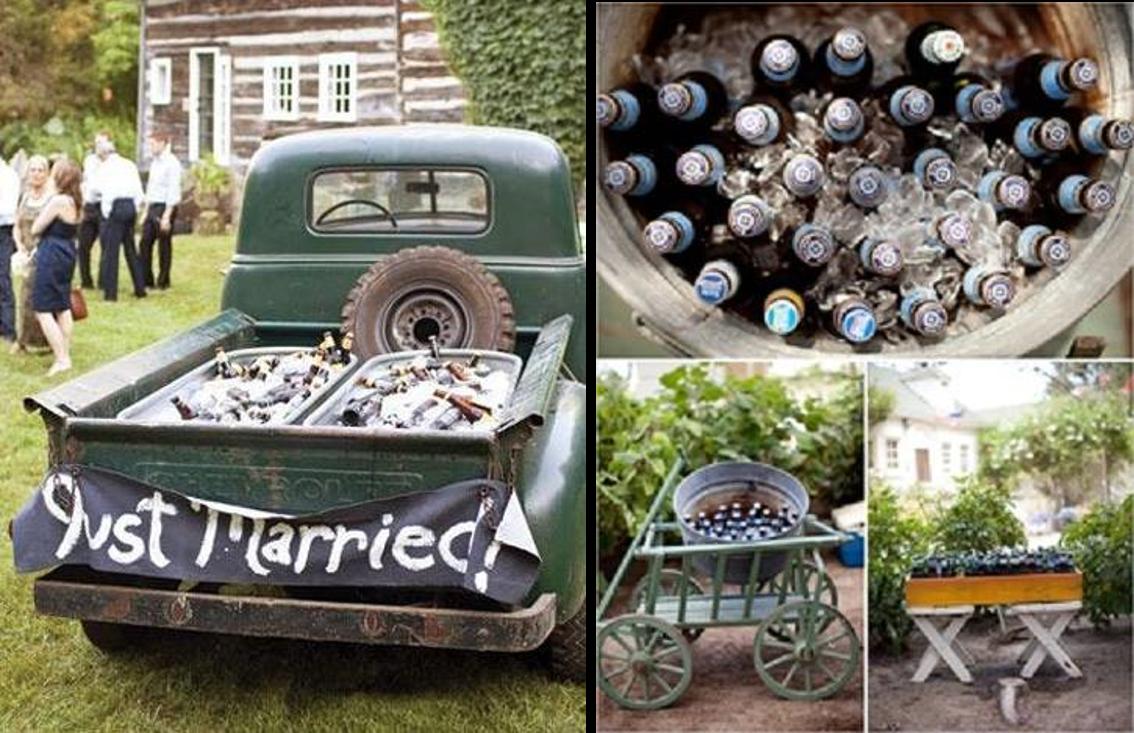 Ideas originales para enfriar las bebidas de boda