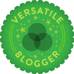 I am a recipient of the Versatile Blogger award!