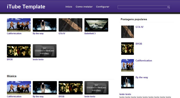 FREE iTube Template Blogger Template