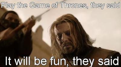 Ned juega el juego de tronos - Juego de Tronos en los siete reinos