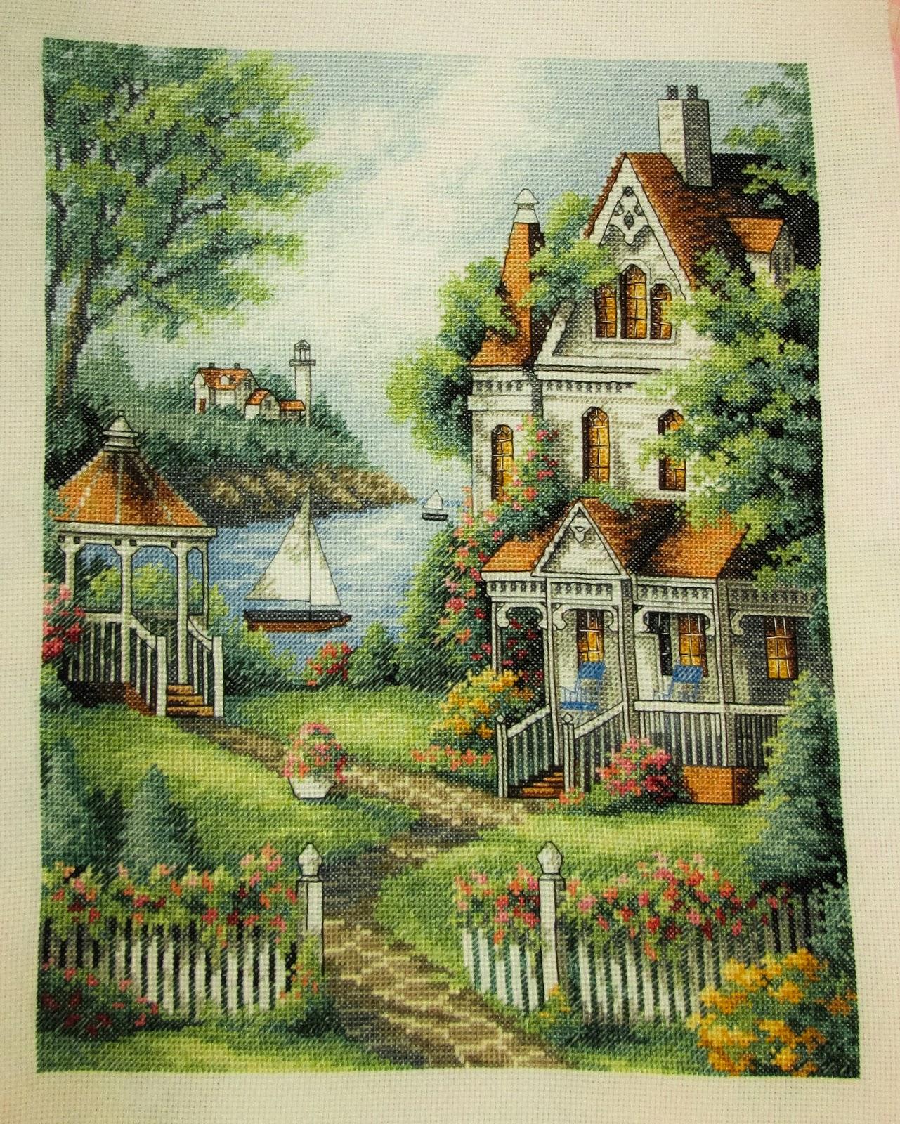 домик мечты схема вышивки