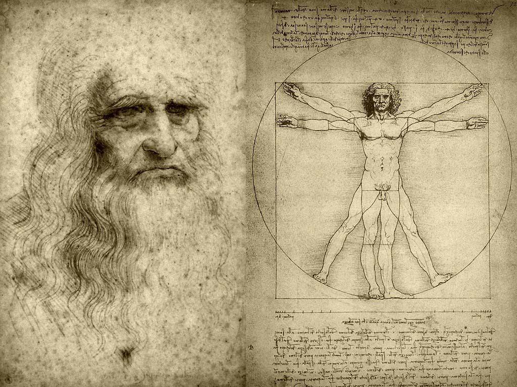Leonardo Da Vinci y El Hombre de Vitruvio